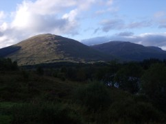 View of the munros from the restaurant